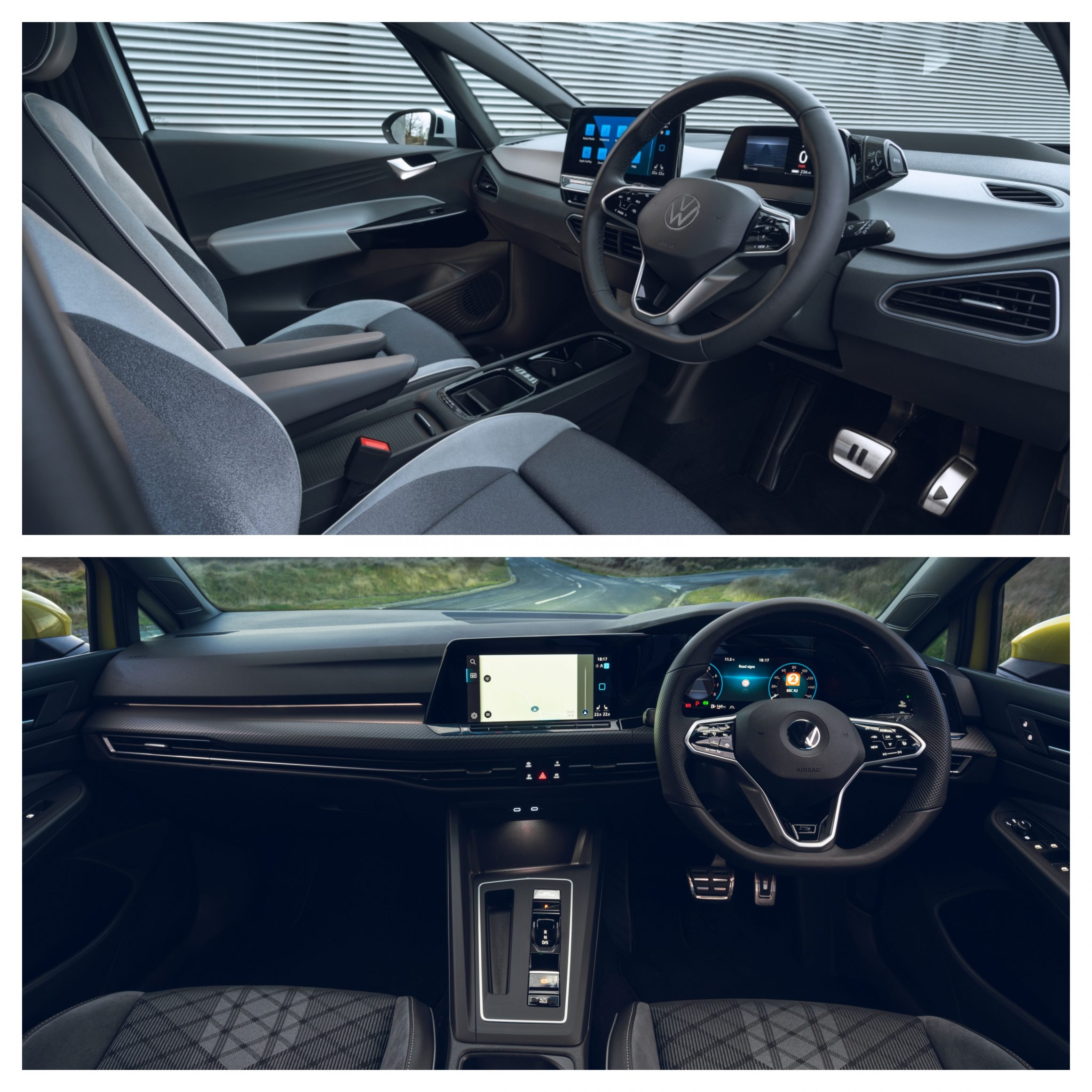 Volkswagen ID.3 Vs Volkswagen Golf - interior design