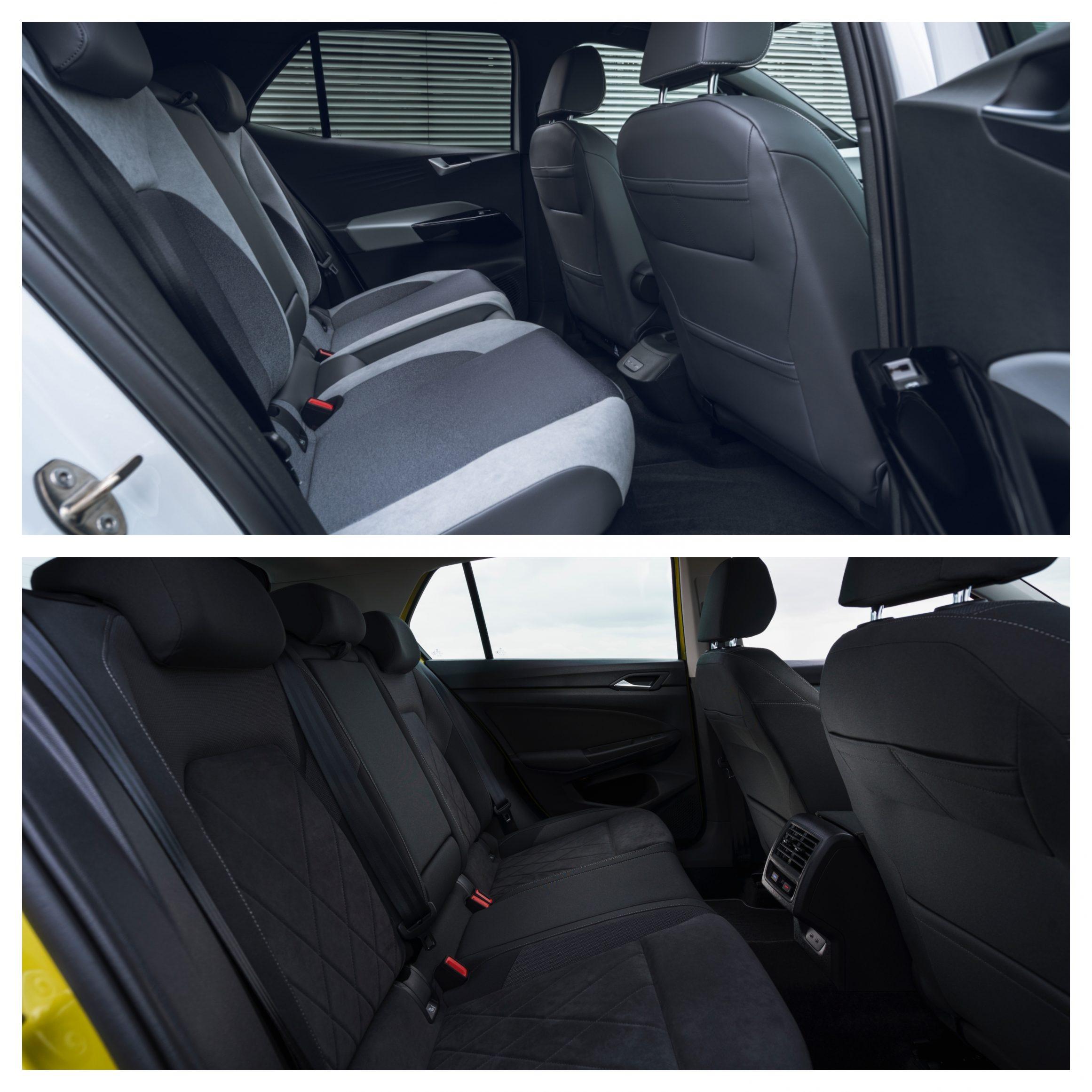 Volkswagen ID.3 Vs Volkswagen Golf - interior space